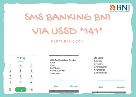 Gambar screen Capture menu sms banking BNI