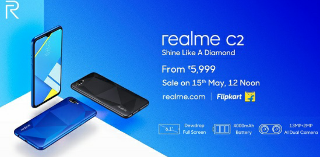 The phone Realme c2 quick review:::// very small price in India at