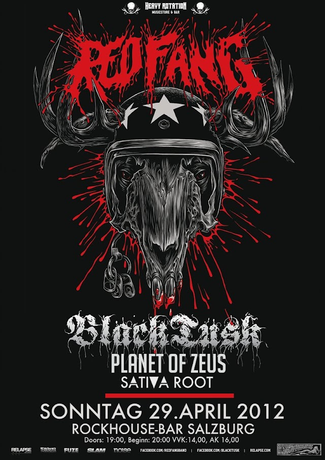 Planet Of Zeus To Support Red Fang In Salzburg