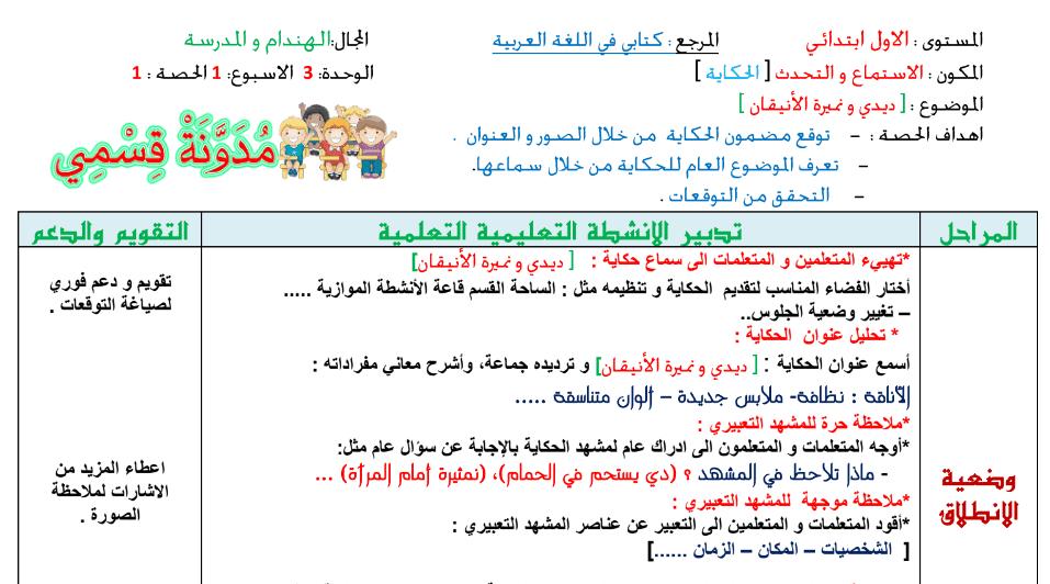 جذاذات كتابي في اللغة العربية