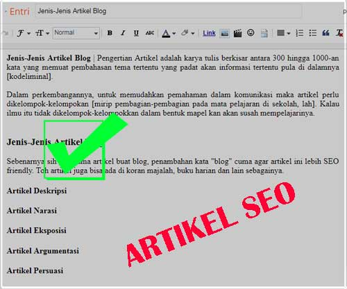 Jenis-Jenis Artikel Blog SEO