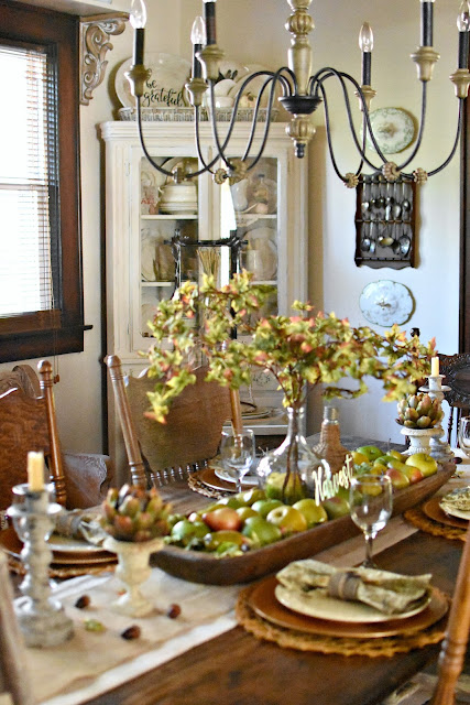 via Follow The Yellow Brick Home Vintage Cottage Style Early Fall Home Tour