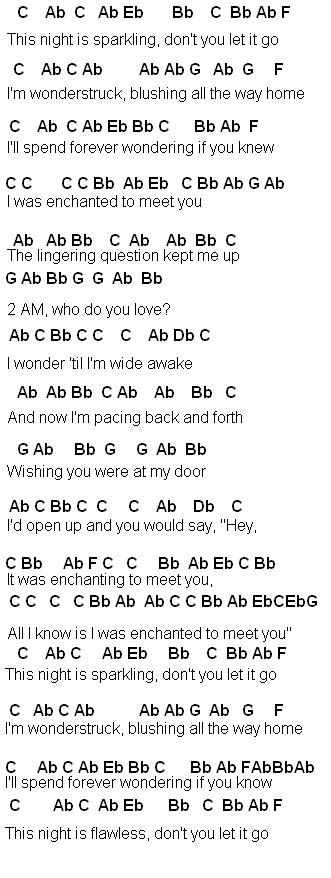 Enchanted guitar chords