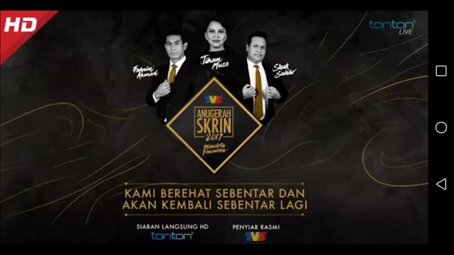 Live Streaming Anugerah Skrin
