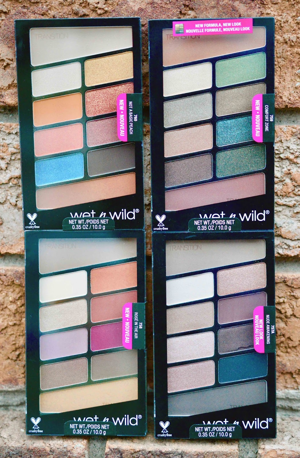 new color icon eyeshadow palettes