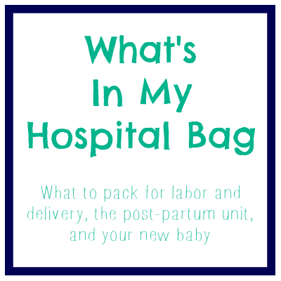 Great hospital packing list and tips!