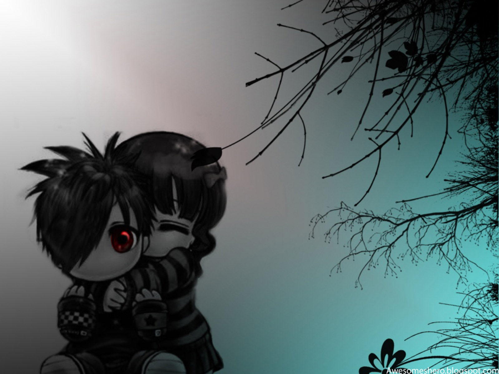 Emo wallpapers free download awesome wallpapers - Anime images download ...