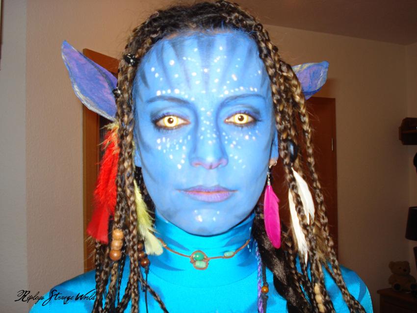 Ripleys Strange World Make Up Avatar Neytiri Complete Look