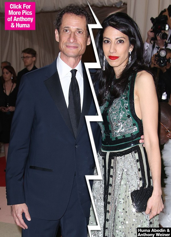 Huma Abedin Announces She's Leaving Anthony Weiner After New Sexting Scandal