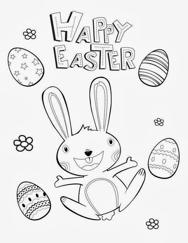 7 Happy Easter Coloring Pages