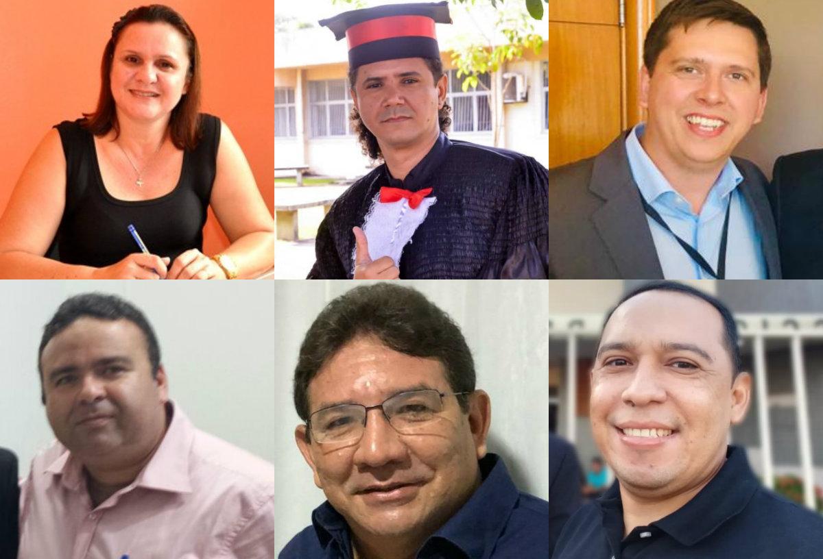 Holofotes em 6 VIPs. Elder, Jair, Esequiel, Maurício, Neucivaldo e Jaciara