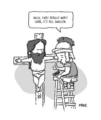 Funny That Really Hurt! Jesus Crucifixion Cartoon Picture