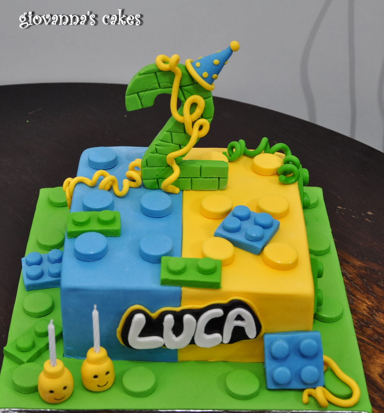 Lucas Lego Themed Birthday Cake
