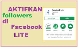 Cara Setting Followers dari Facebook Lite