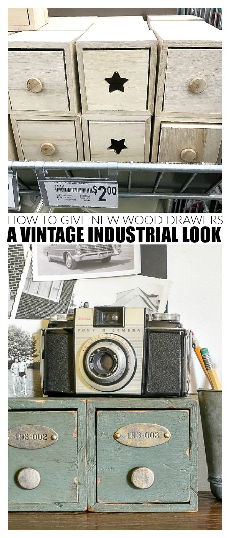 How to give new wood vintage industrial look