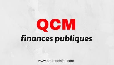MATIERE FINANCES PUBLIQUES