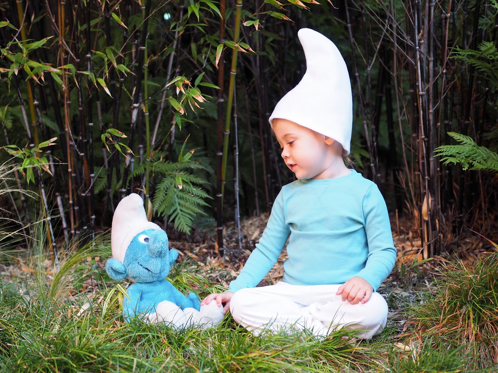 Fun fact That plush Smurf in the photos with Mathilde? That was mine when I was a kid! I love it when characters that I loved as a kid come back around ...  sc 1 st  Little Hiccups & Little Hiccups: Last Minute Halloween DIY: Smurf Costume