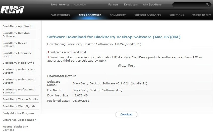 Blackberry software for mac free download