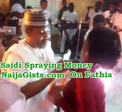 saidi balogun spraying money fathia balogun