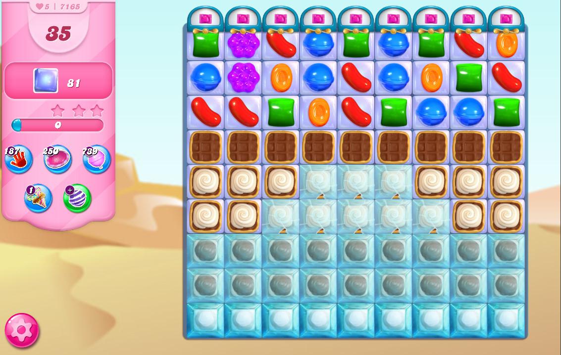 Candy Crush Saga level 7165
