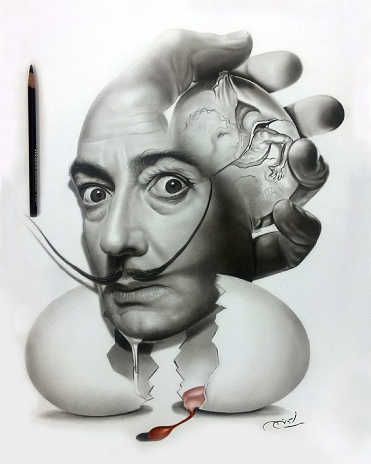 11-Surreal-Salvador-Dali-aymanarts-Realistic-Drawings-of-Celebrities-and-Other-www-designstack-co