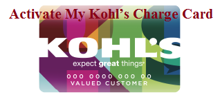 Activate My Kohl's Charge Card