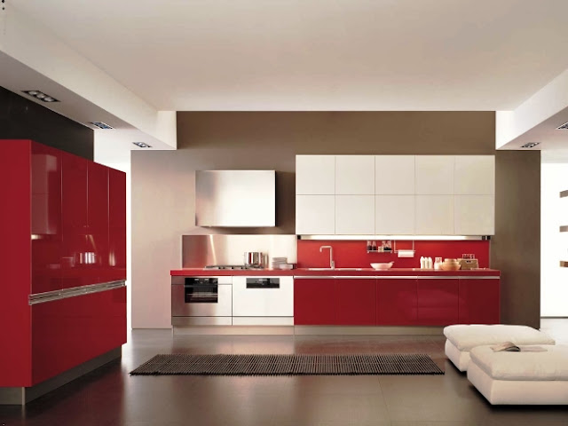 White and Red KITCHEN CABINETS Ideas