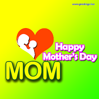 Happy mothers day mom Greetings image heart symbol,mother holding a baby