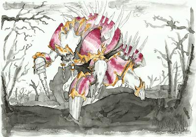 fanart dibujo Anub'arak antiguo rey de Azjol-Nerub Warcraft