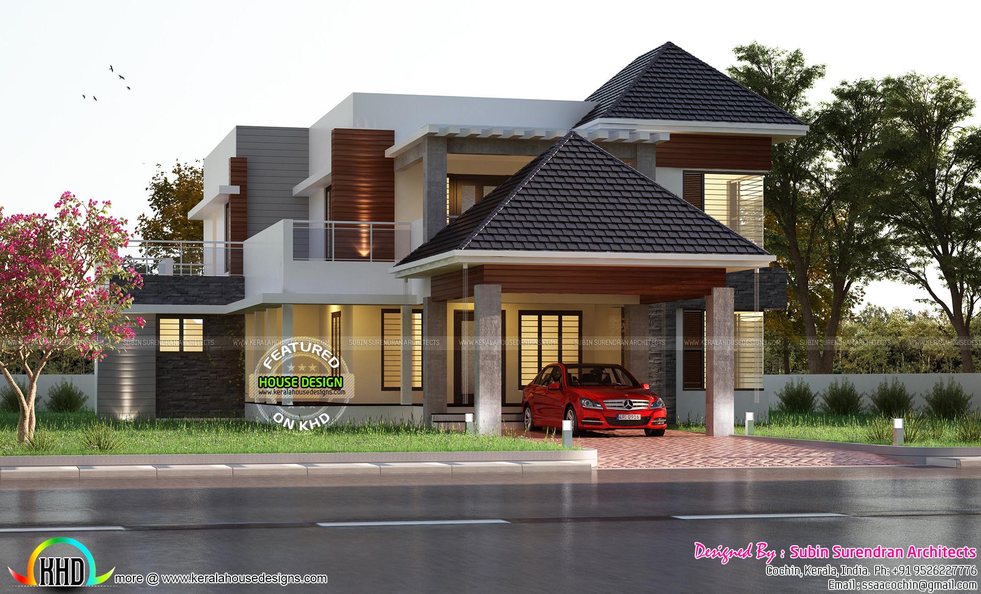 House design khd - Premium Kerala Home Design