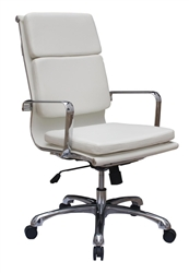 White Leather Office Chair - Hendrix by Woodstock Marketing