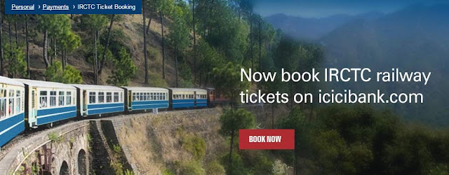 ICICI bank - book IRCTC tickets