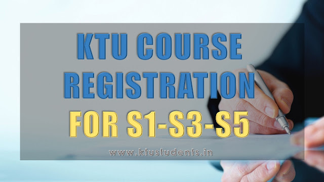 ktu course registration app.ktu