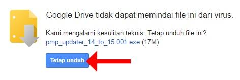 Google Drive tidak dapat memindai file ini dari virus