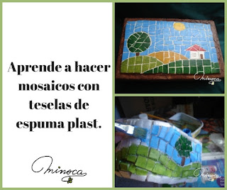 Reciclar telgapor o espuma plast. Decorar con mosaicos. Tutorial paso a paso para hacer mosaicos