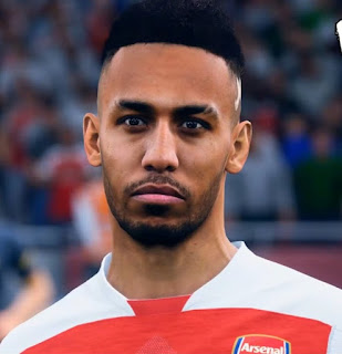 FIFA 19 Faces Pierre-Emerick Aubameyang by CrazyRabbit