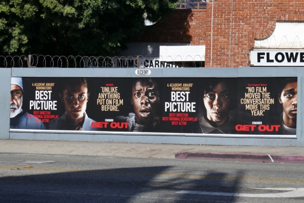 Get Out Oscar nominee street posters