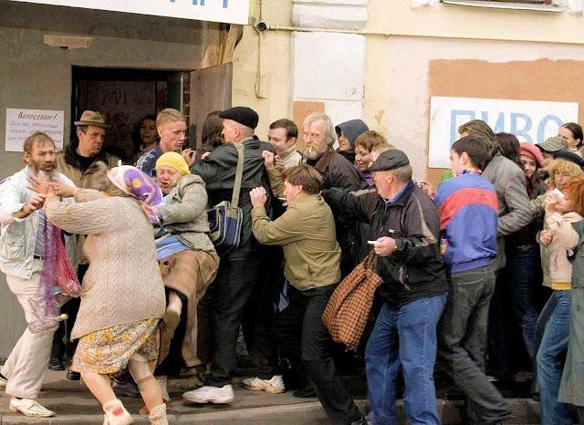 Fila por vodka: os vícios só pioraram na era de Putin