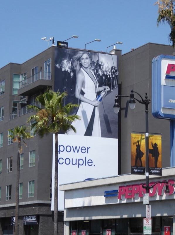 Jennifer Aniston Smartwater Power couple billboard
