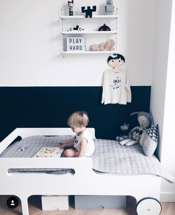 Rafa-kids R toddler bed - whitewash