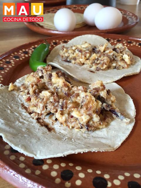 machacado con huevo machaca a la mexicana facil monterrey regio