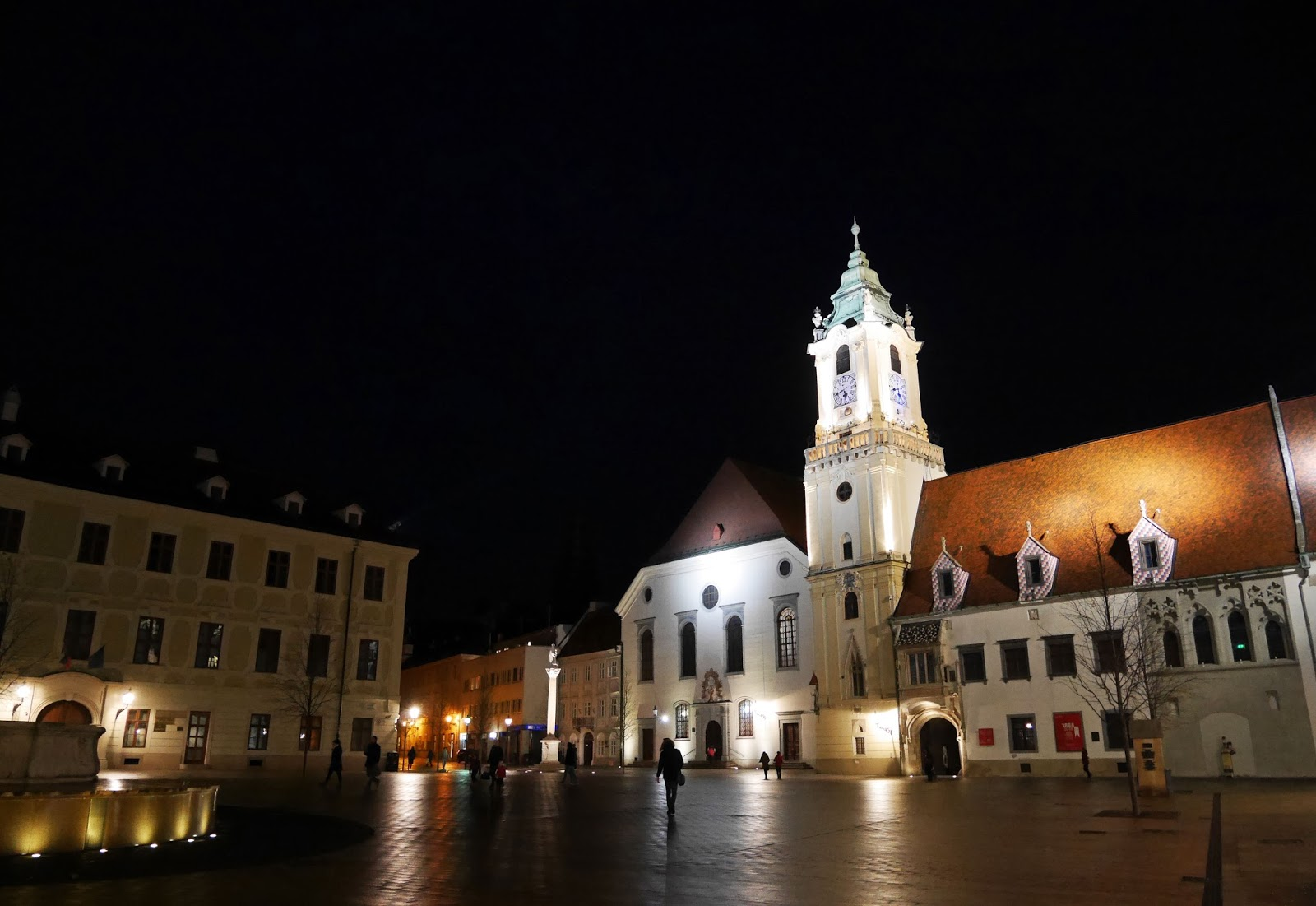 Bratislava's Old Town Hall at night