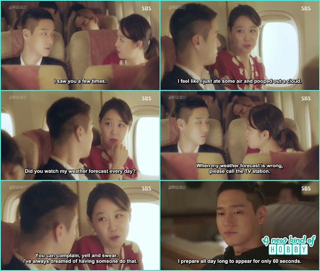 jung won remember na ri and his conversation in the plane eat air and popped out cloud - Jealousy Incarnate - Episode 1 Review