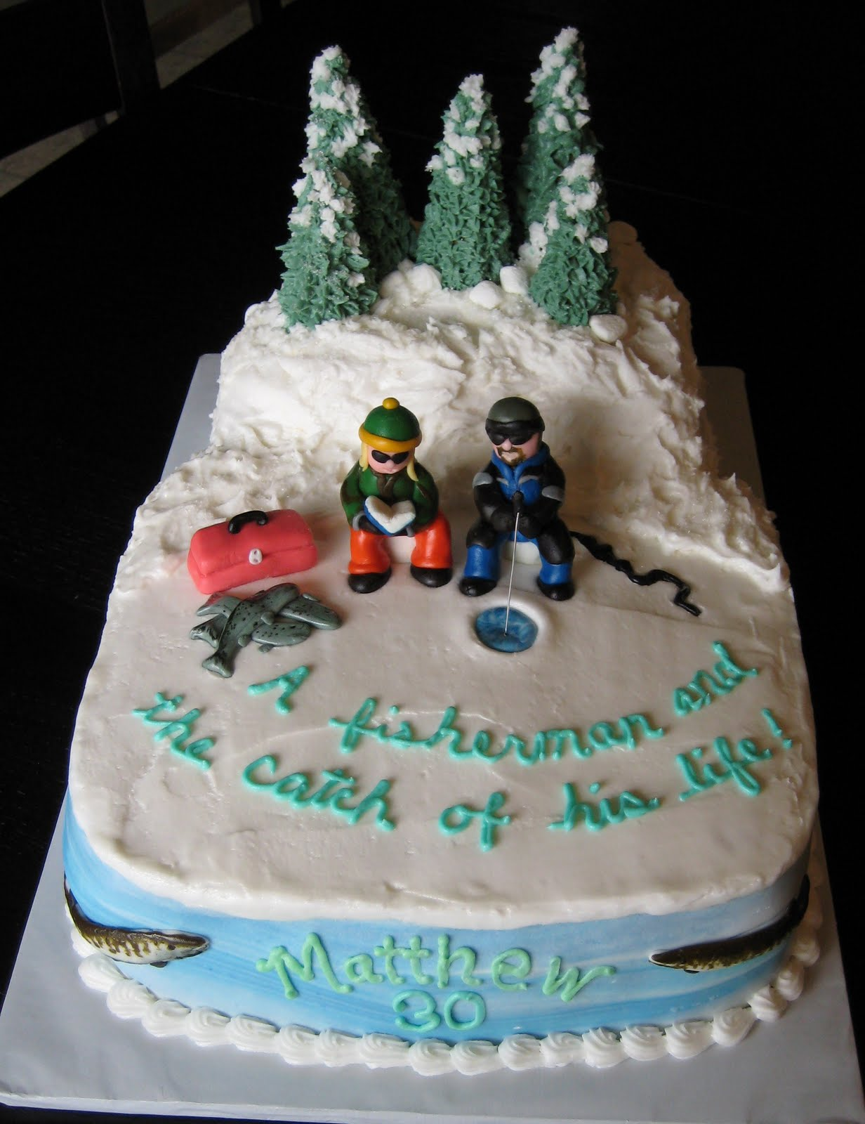 Custom Cakes by Julie: Ice Fishing Cake