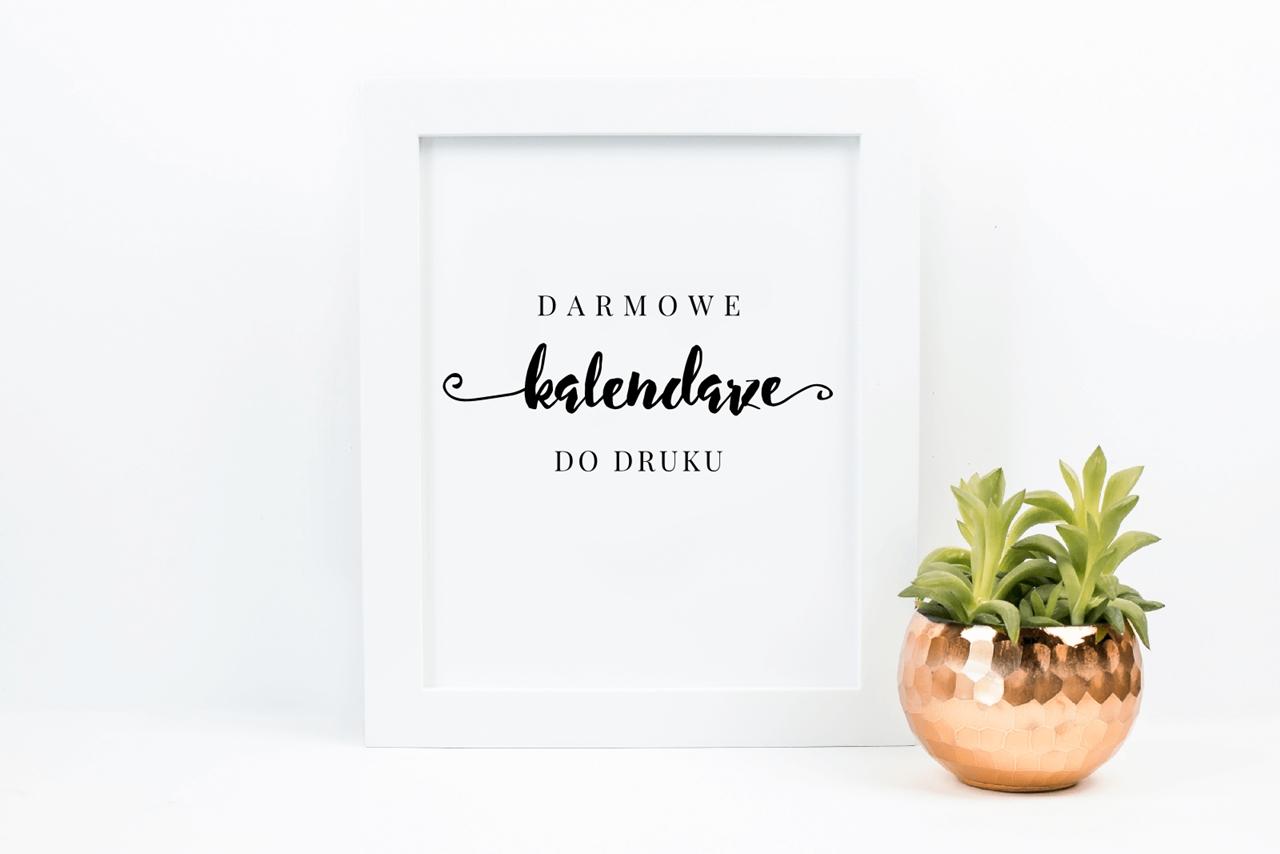 Kalendarze 2018 do druku {25 pięknych kalendarzy do pobrania}