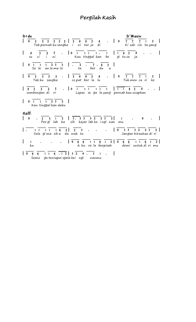 Chord Lagu D'masiv Pergilah Kasih : chord, d'masiv, pergilah, kasih, Download, Sabyan, Karya
