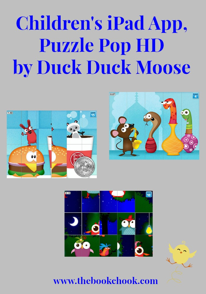 The Book Chook: Children's iPad App, Puzzle Pop HD by Duck
