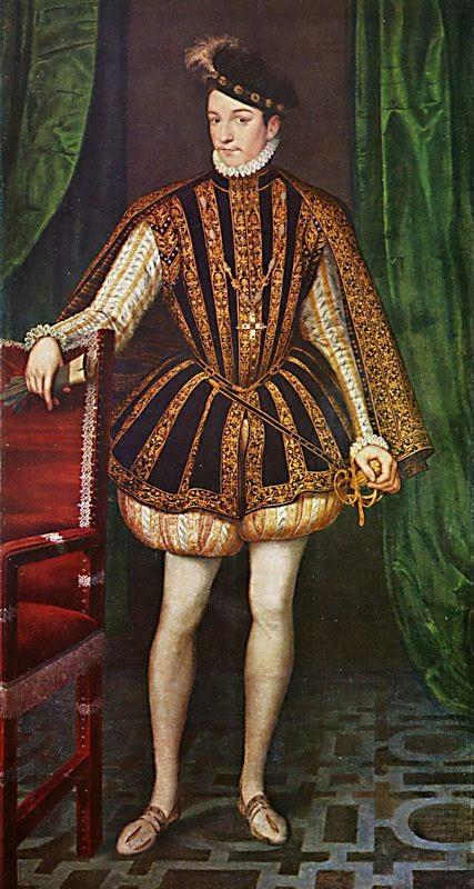 02a88786833d Несмотря на то что Церковь яростно бичевала разрезы сделанные на одежде,  французский мужской костюм в эпоху Возрождения ими изобиловал.