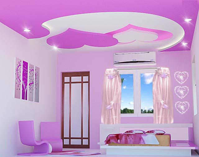Plaster ceiling designs for girls bedroom false ceilings