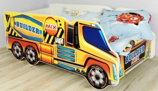 Big Yellow Cement Mixer Truck Bed for children